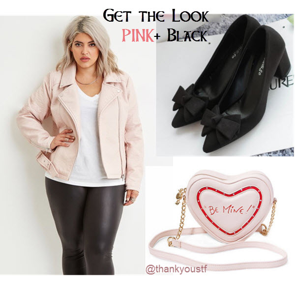 get the look pink and black