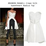 BRANDON MAXWELL Crepe Silk Sweetheart Bodice Top