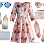 Chicwish Poppy My Love Glossy Dress in outfit