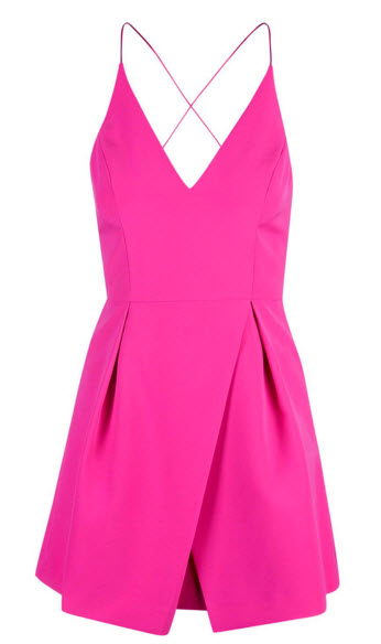 TopShop Strappy Bonded Mini Dress