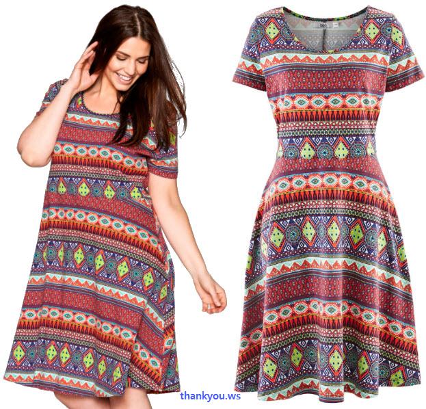 O rochie adorabilă din actuala colecţie bpc realizată în stil casual dintr-un bumbac delicat cu stretch elastic