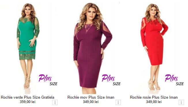 rochii femei grase modele midi rosii verzi si mov