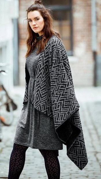 rochii masuri mari gri din jerse pentru iarna