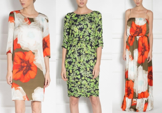 rochii nissa cu print floral