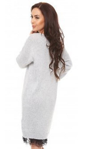 Rochie Top Secret Stiff Elegance Grey din tricot gri