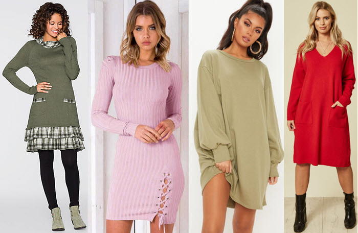 Rochii tricotate elegante - Modele pentru toamna iarna 2019-2020