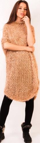 rochie din lana bej