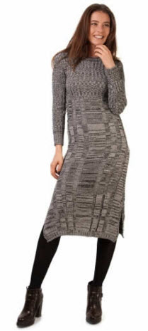 rochie tricoata midi gri