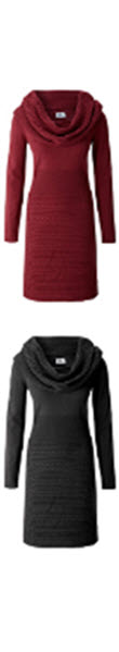 rochii tricotate groase de iarna rosii si bleumarin