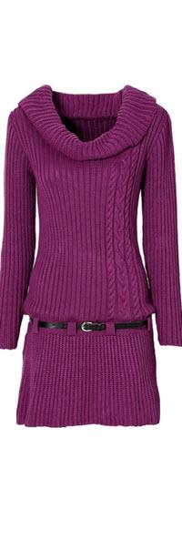 rochii tricotate scurte de culoare lila