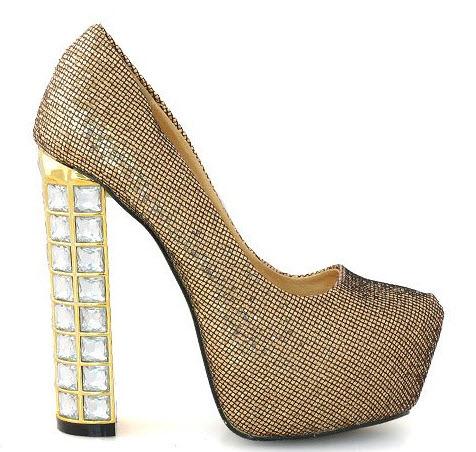 pantofi gold glow