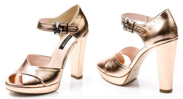 Sandale elegante piele aramie Aero