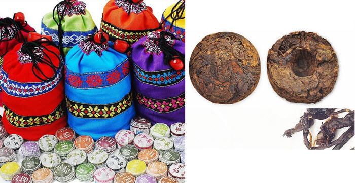 50 de bucati din diferite arome de ceai Puerh din zona Yunnan 5-10 ani vechime