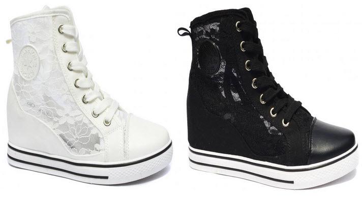 sneakers-crowell-negru-alb-cu-dantela-insertii