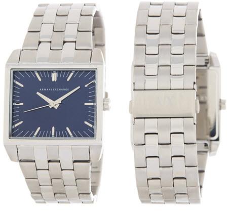 Ceasuri barbati Armani Exchange Mens Blue Dial Stainless Steel Watch
