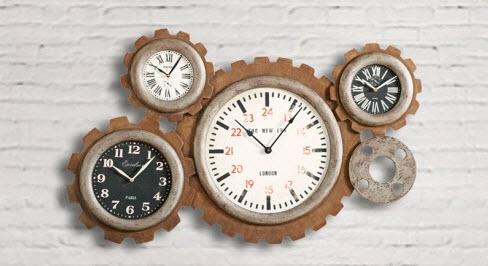 ceas dialma brown din lemn de pus pe perete