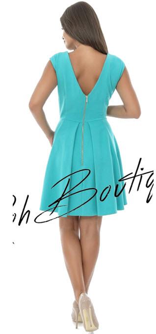 rochie eleganta pentru ocazii culoare albastra turcoaz