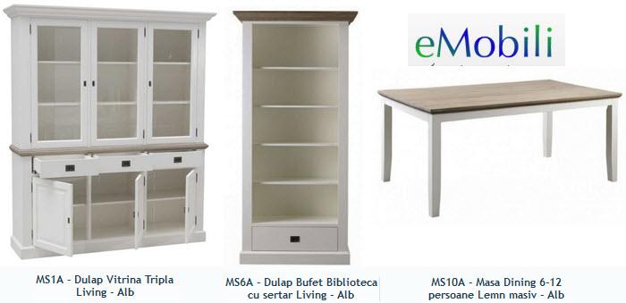 mobilier living din lemn masiv