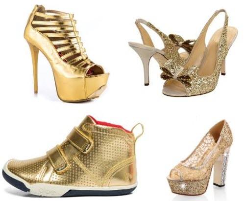 cei mai frumosi pantofi aurii