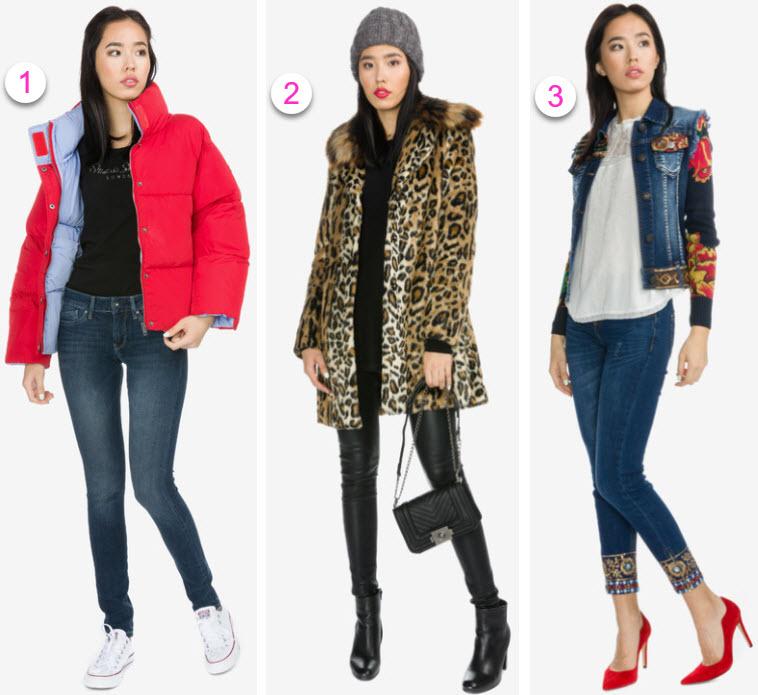 geci jachete si paltoane dama din fas denim si blana