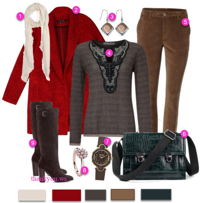 paltoane calduroase outfit casual de iarna cu palton si cizme lungi