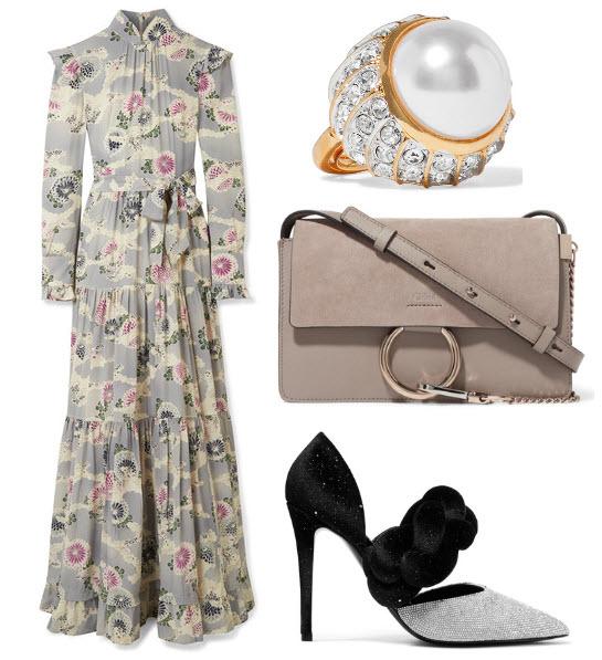 rochie lunga Co cu print floral