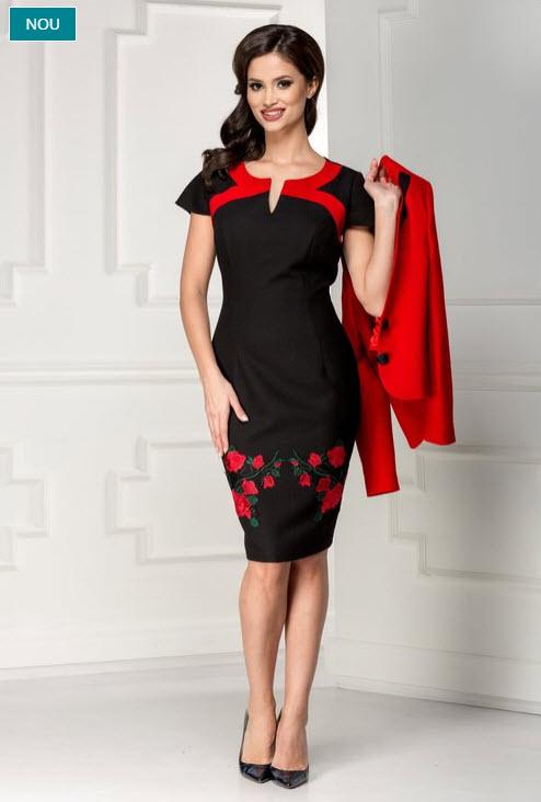 rochie sacou rosie