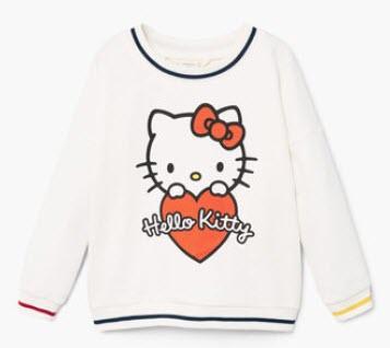 Bluza alba hello kitty pentru fetite