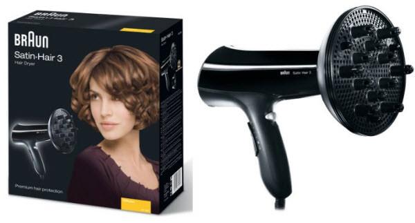 Cele mai bune uscatoare de par - Braun Satin Hair 330-DF5