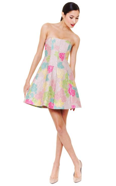 Valentino Strapless Dress w/ A-Line Hem