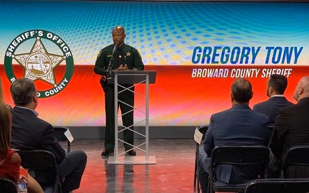 Gregory Tony BSO Sheriff at 2019 MHFA Launch Event