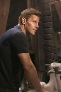 """BONES:  David Boreanaz in the """"The Brother in the Basement"""" episode of BONES airing Thursday, Oct. 8 (8:00-9:00 PM ET/PT) on FOX.  ©2015 Fox Broadcasting Co.  Cr:  Kevin Estrada/FOX"""