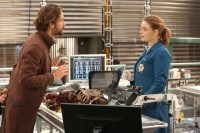 "BONES:   L-R:  Tom Mison and Emily Deschanel in the special ""The Resurrection in the Remains"" BONES/SLEEPY HOLLOW crossover episode of BONES airing Thursday, Oct. 29 (8:00-9:00 PM ET/PT) on FOX.  ©2015 Fox Broadcasting Co.  Cr:  Patrick McElhenney/FOX"