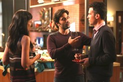 "BONES: L-R: Tamar Taylor, guest star Ignacio Serricchio and John Boyd in the ""High Treason in the Holiday Season"" episode of BONES airing Thursday, Nov. 19 (8:00-9:00 PM ET/PT) on FOX. ©2015 Fox Broadcasting Co. Cr: Patrick McElhenney/FOX"