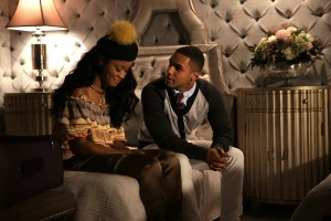 """SCREAM QUEENS: L-R: Keke Palmer and Lucien Laviscount in the """"Ghost Stories"""" episode of SCREAM QUEENS airing Tuesday, Nov. 17 (9:00-10:00 PM ET/PT) on FOX. ©2015 Fox Broadcasting Co. Cr: Patti Perret/FOX."""