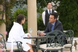 "BONES: L-R: Guest star Rebekah Graf and John Boyd in the ""The Jewel In the Crown"" episode of BONES airing Thursday, July 14 (8:00-9:00 PM ET/PT) on FOX. ©2016 Fox Broadcasting Co. Cr: Patrick McElhenney/FOX"