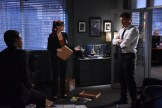 """BONES: L-R: John Boyd, guest star Sara Rue and David Boreanaz in the """"The Final Chapter: The Hope in the Horror"""" season premiere episode of BONES airing Tuesday, Jan. 3 (9:01-10:00 PM ET/PT) on FOX. ©2016 Fox Broadcasting Co. Cr: Ray Mickshaw/FOX"""