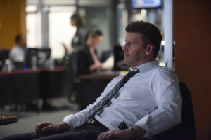 """BONES:  David Boreanaz in the """"The Final Chapter:  The Scare in the Score"""" episode of BONES airing Tuesday, Feb. 14 (9:00-10:00 PM ET/PT) on FOX.  ©2017 Fox Broadcasting Co.  Cr:  Ray Mickshaw/FOX"""