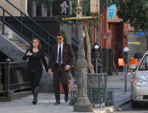 """BONES:  L-R: Emily Deschanel and David Boreanaz in the """"The Final Chapter:  The Radioactive Panthers in the Party"""" episode of BONES airing Tuesday, March 14 (9:01-10:00 PM ET/PT) on FOX.  ©2017 Fox Broadcasting Co.  Cr:  Patrick McElhenney/FOX"""