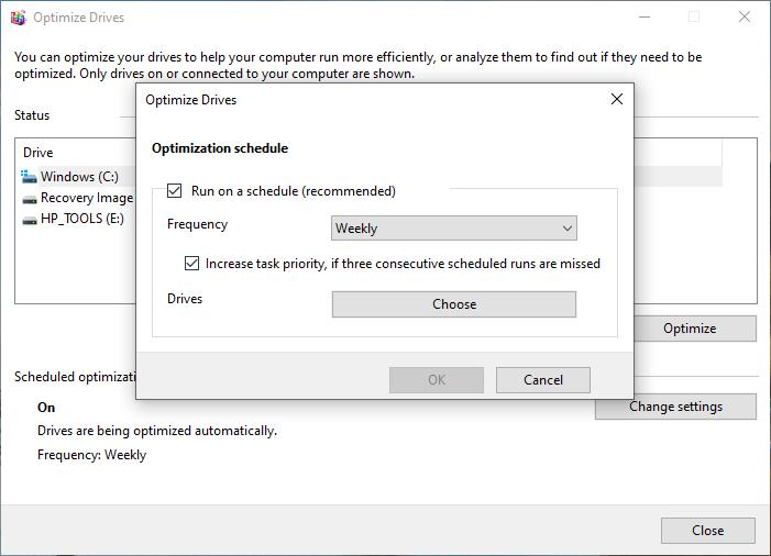 إلغاء تجزئة القرص الصلب لتسريع ويندوز 10 بدون برامج خارجية