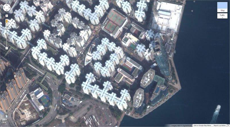 صور غريبة في برنامج خرائط جوجل