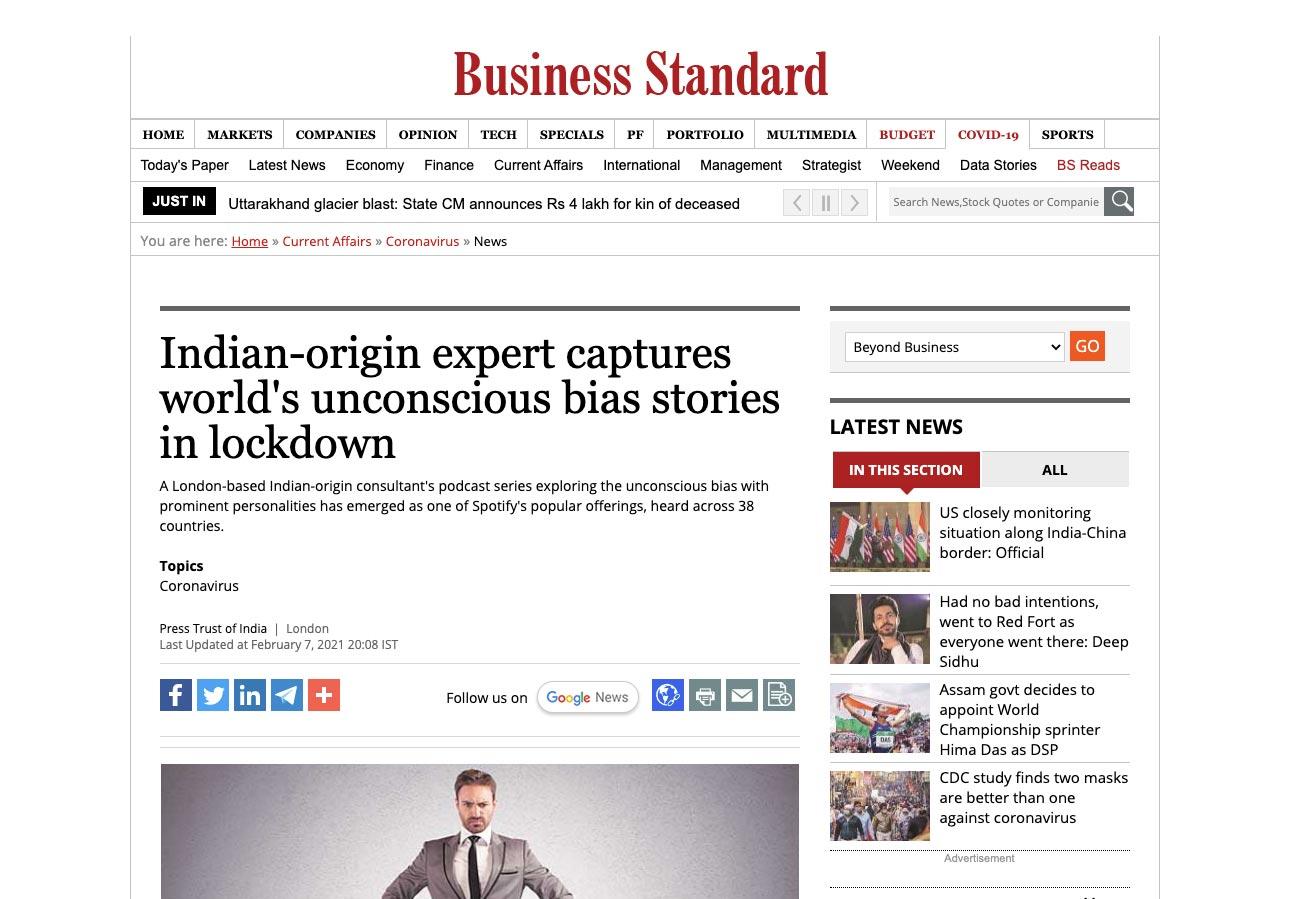 Business Standard review The Unconscious Bias Tharoor Associates