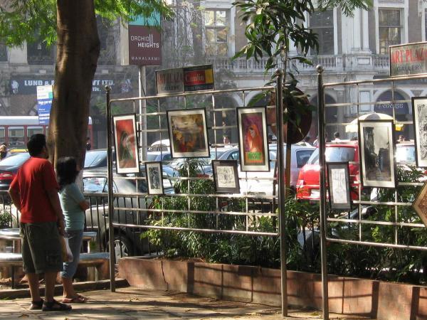 Mumbai Lens Framed Pavement Art