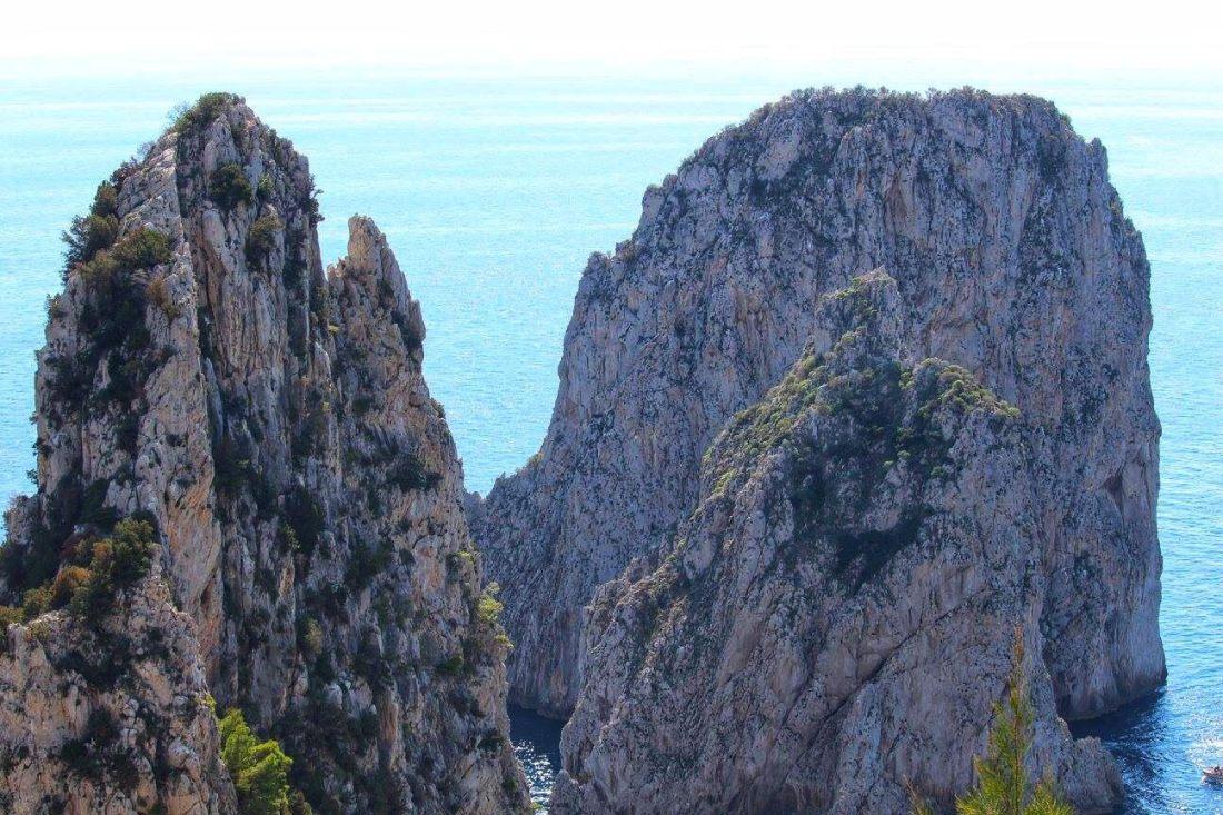 view of i faraglioni capri