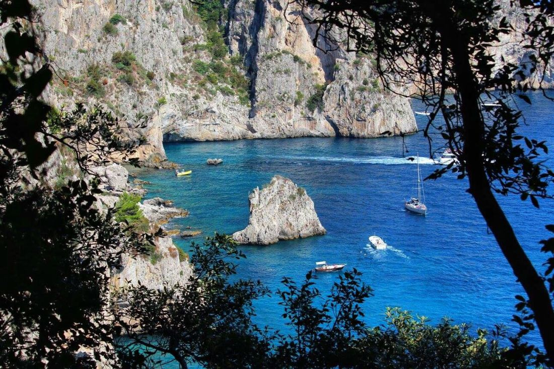 view of the sea capri