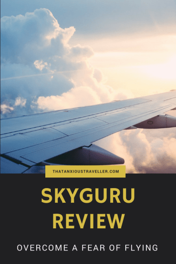 SkyGuru review - the app that'll help you overcome a fear of flying. Click and read our comprehensive, illustrated review, and see how you can be up and flying in no time! No-one should have to suffer through a fear of flying. https://thatanxioustraveller.com #travel #flying #app #fear