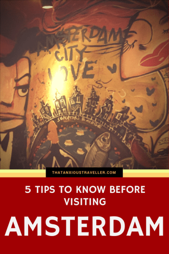 Planning a trip to Amsterdam? Visiting soon? Want 5 top tips you should know before visiting, including how to make your money go further, seeing the Anne Frank House, and being a considerate visitor? Of course you do! Check out this guide! https://thatanxioustraveller.com #amsterdam #tips #netherlands #europe