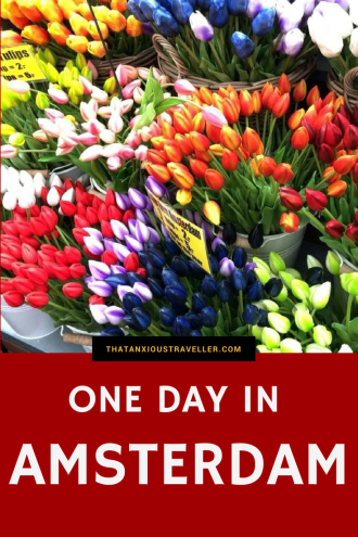 One Day In Amsterdam - what can you do in one day in Amsterdam? Read on for a Travel Tales extravaganza, including freezing conditions, annoying tourists, and me faceplanting into a metal staircase. Plus, all the wonderful things that Amsterdam has to offer, and there are many. https://thatanxioustraveller.com #amsterdam #netherlands #travel #europe