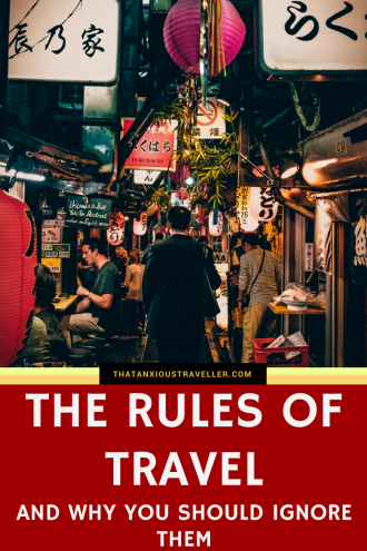 "If you watch television adverts, or see print ads which deal with travel, you may feel like there's certain things you can or can't do. Or that certain things are expected from you. We're here to tell you to say ""no!"" to these unspoken travel rules - but only if you want to, because making your own rules is what travel's all about. https://thatanxioustraveller.com #travel #backpacking #media"