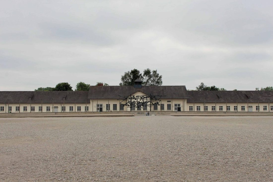Dachau Roll Call Square. Visiting Dachau Concentration Camp Memorial Site https://thatanxioustraveller.com #europe #travel #munich #dachau #history
